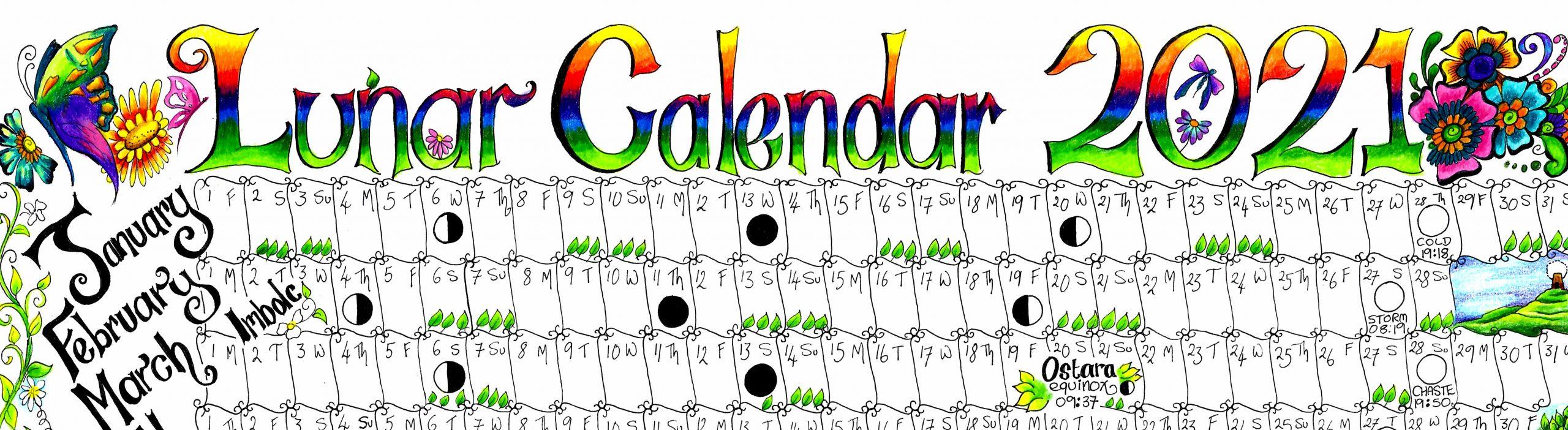 2021 Lunar Calendar A4 Gwen Davies