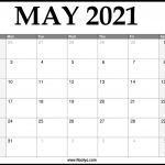 2021 May Calendar Printable Download Free Noolyo