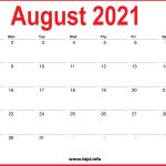 2021 Monthly Calendars 2021 July August September