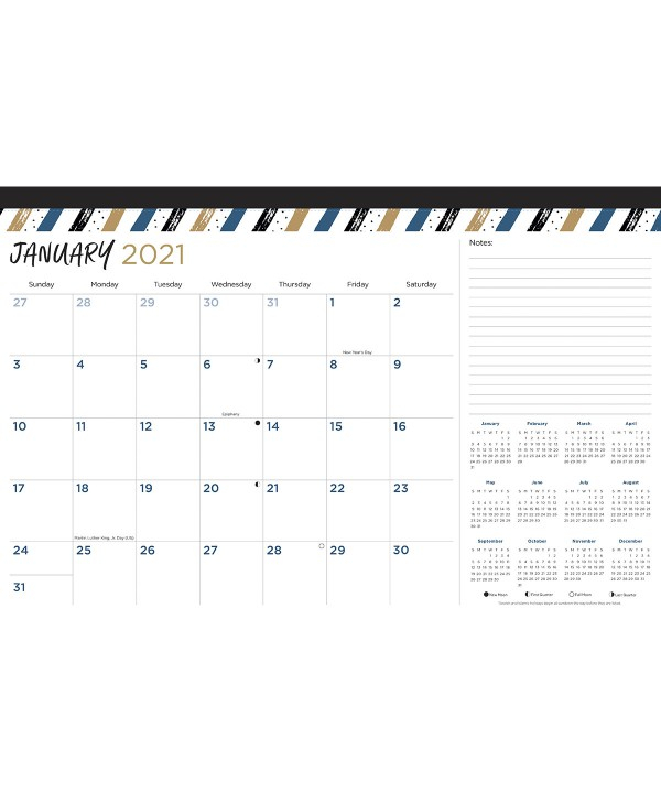 2021 Monthly Desk Calendar 17 X 11 Paper Craft Products