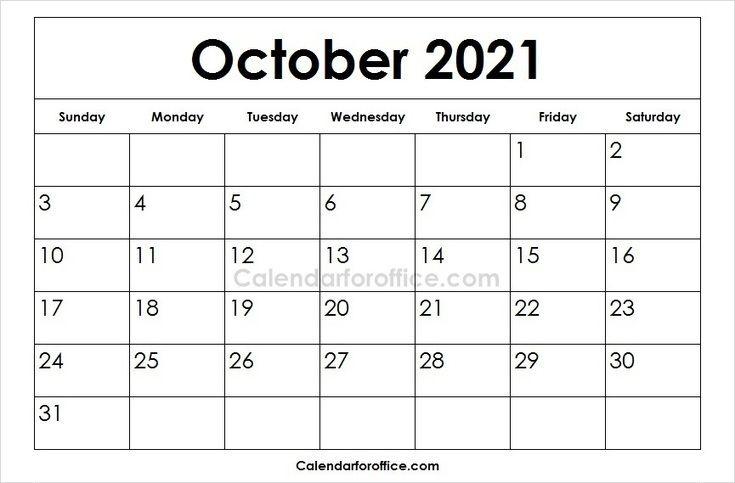 2021 October Calendar Designs 2021 Calendar October