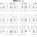 2021 Printable Calendar Monthly Calendar Printable Free