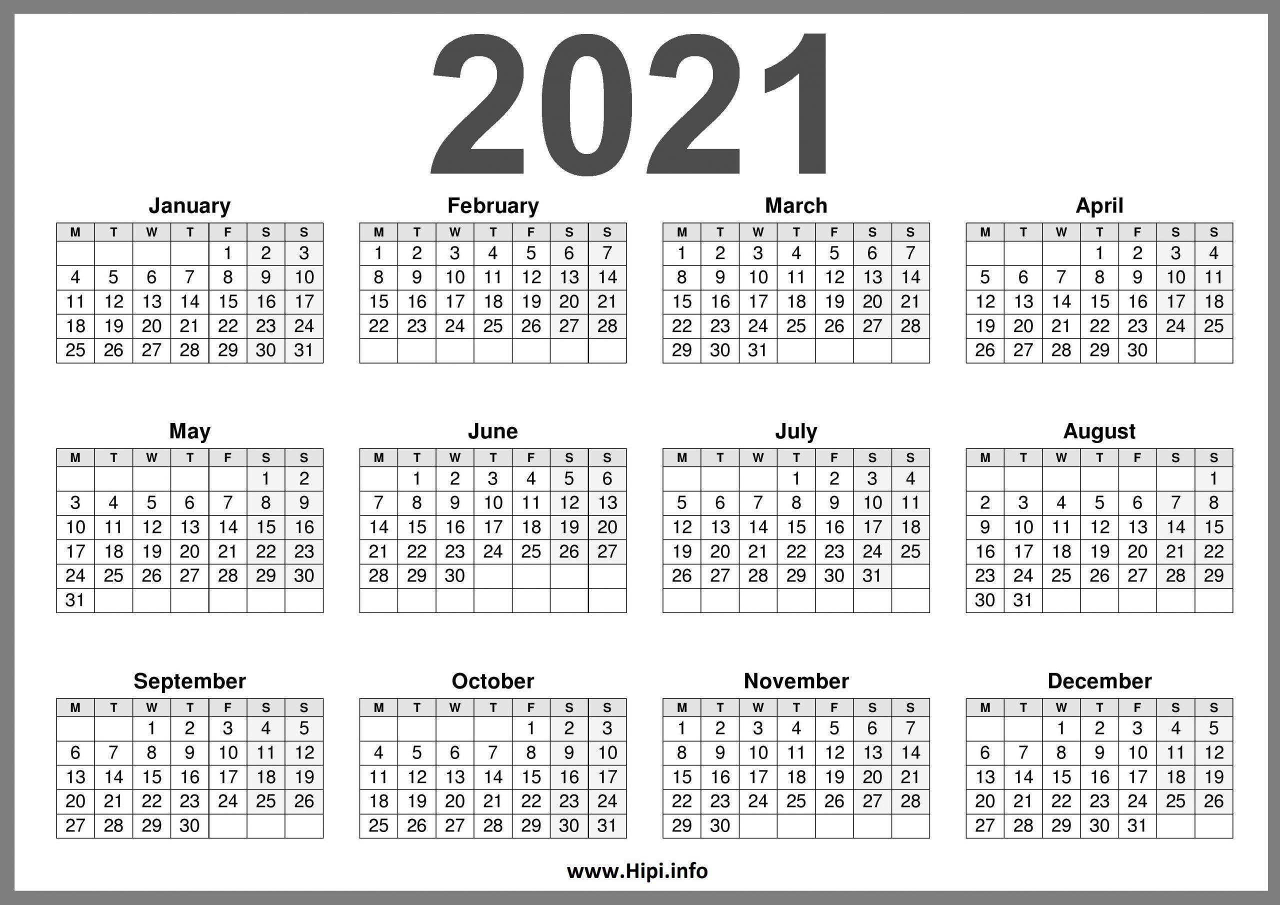 2021 Printable Calendar Uk United Kingdom Hipi
