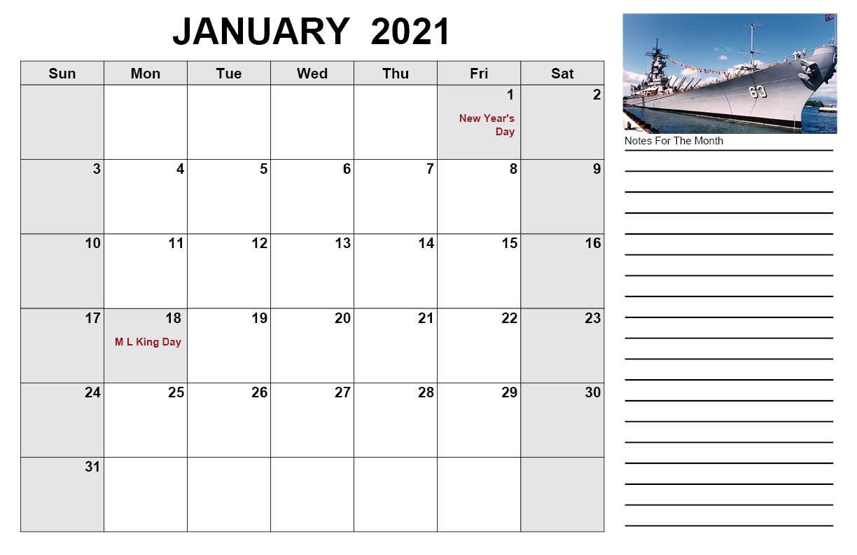 2021 War Ships Desk Calendar 11 X 17 Every Month A New Ship 1