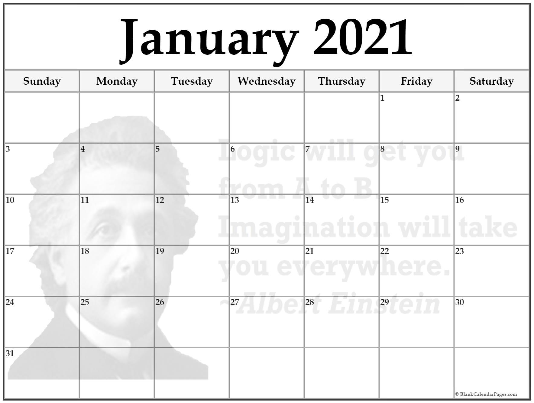 24 January 2021 Quote Calendars