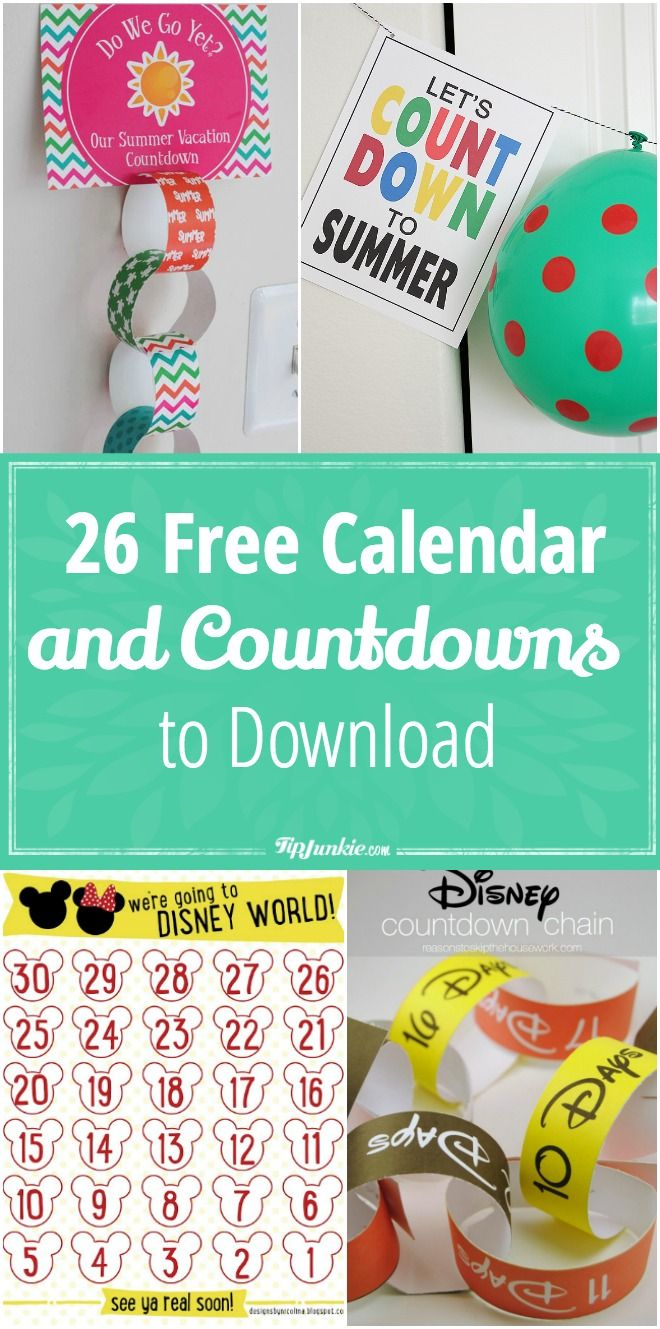 26 Free Calendar And Countdowns To Download For May Kids