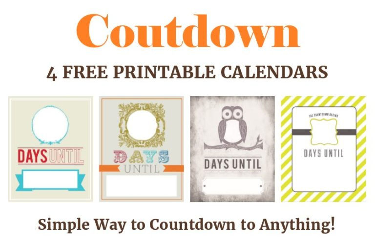 27 Fun Countdown Calendars To Anticipate Your Next Event