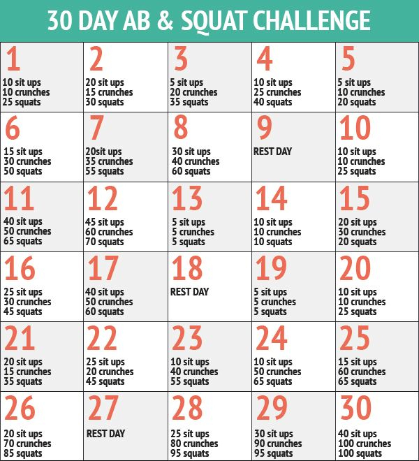 30 Day Ab Squat Challenge Inspiremyworkout A