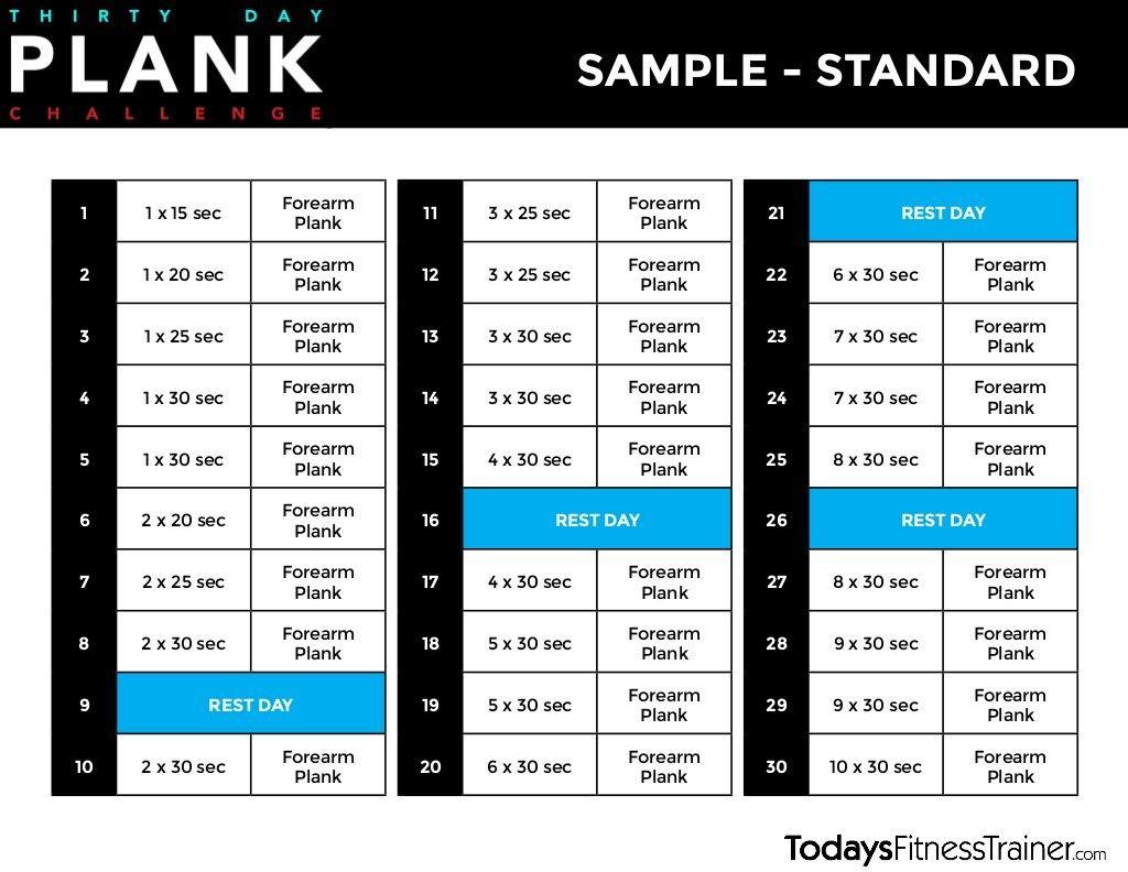 30 Day Beginner Plank Challenge Beginner Plank Challenge