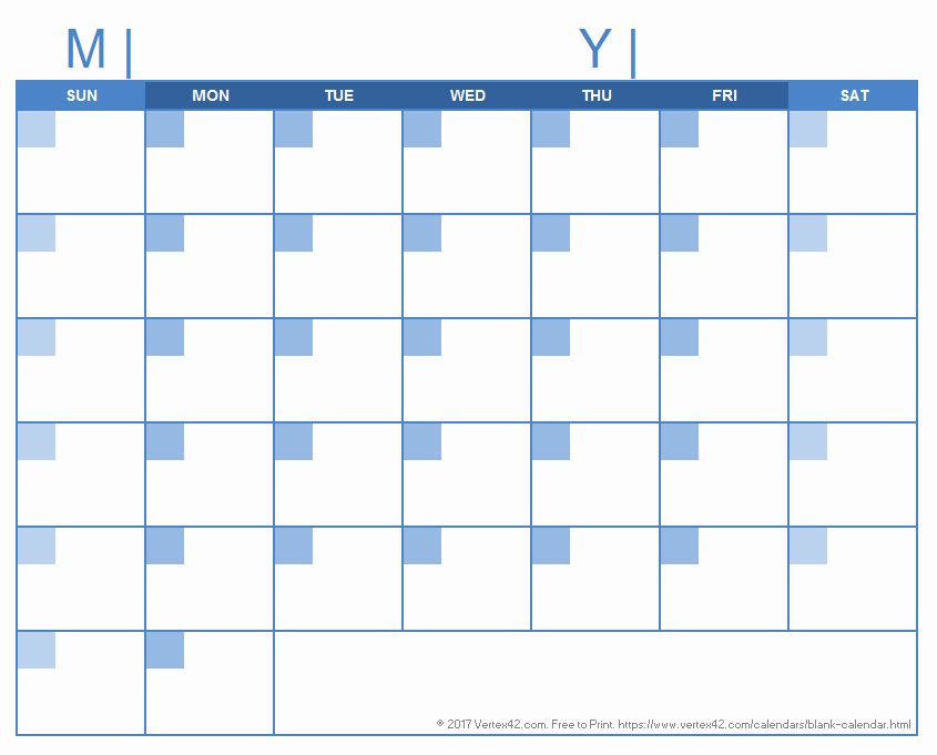 30 Day Calendar Template Word In 2020 With Images