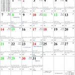 30 Day Calendar With Circle With A Line Thru It Calendar