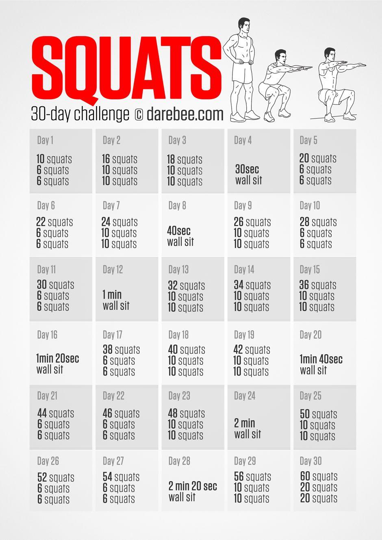 30 Day Home Workout Challenge Pdf Workoutwaper Co