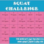 30 Day Squat Challenge Printable That Are Refreshing 1