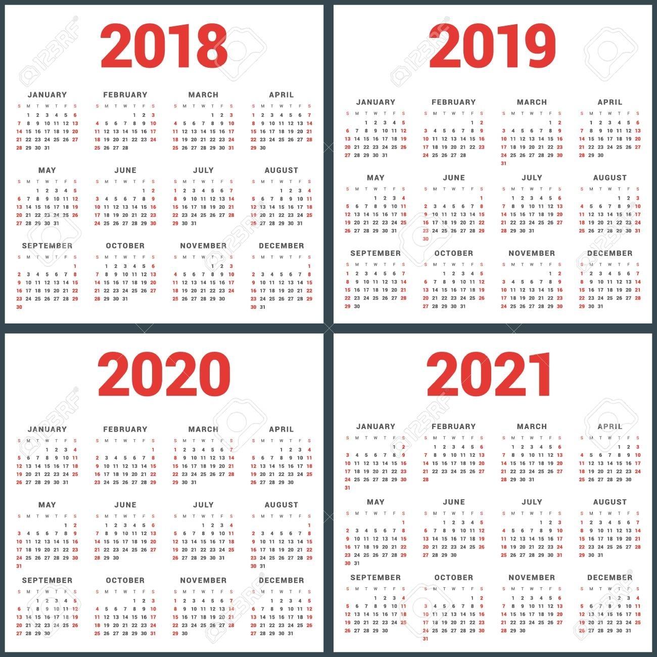 4 Year Calendar 2020 To 2021 Month Calendar Printable
