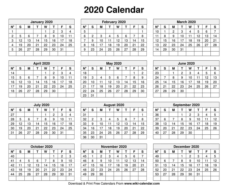 5 Day Blank Calendar 2020 Free Calendar Template Example