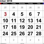 5 Day Calendar September 2018 Template Calendar Design