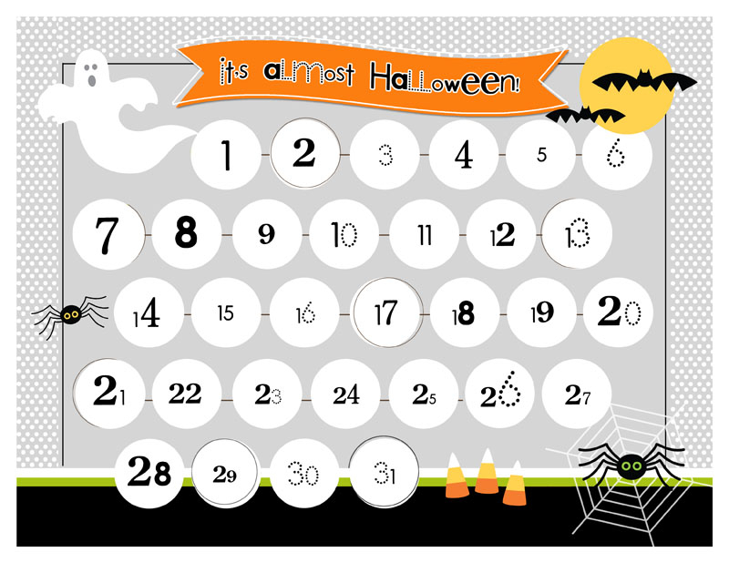 5 Spooky Halloween Countdown Calendars Kittybabylove
