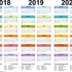 5 Year Calendar 2020 To 2020 Month Calendar Printable