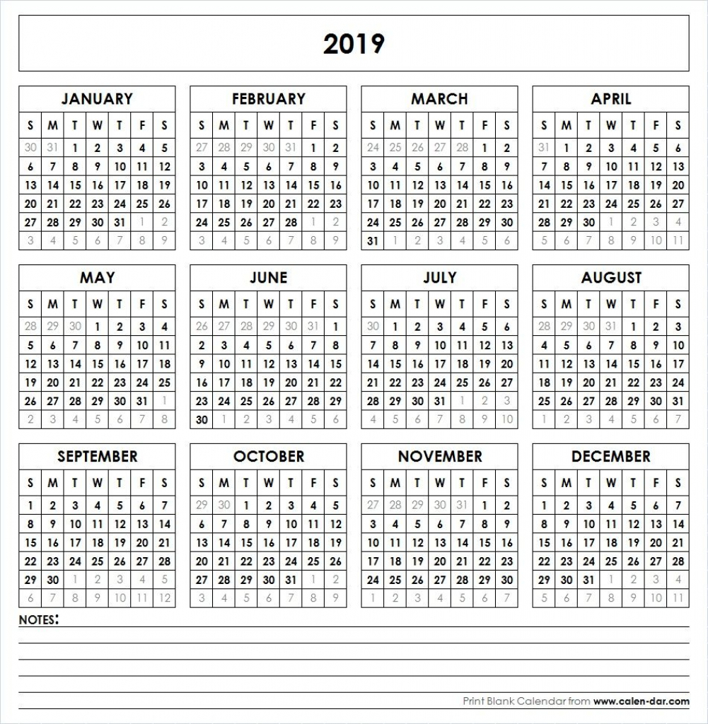 5 Year Calendar Printable Calendar Template 2020