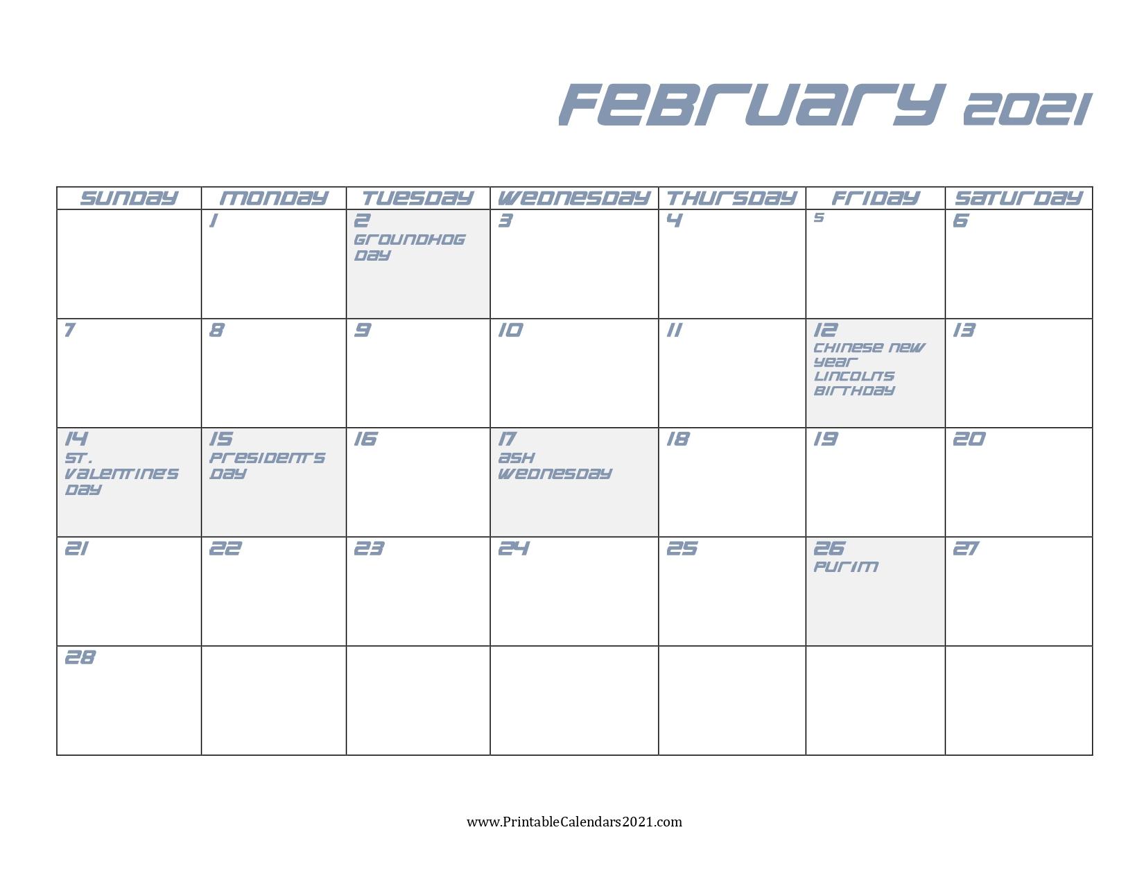 Printable Calendar - Calendar Template 2020