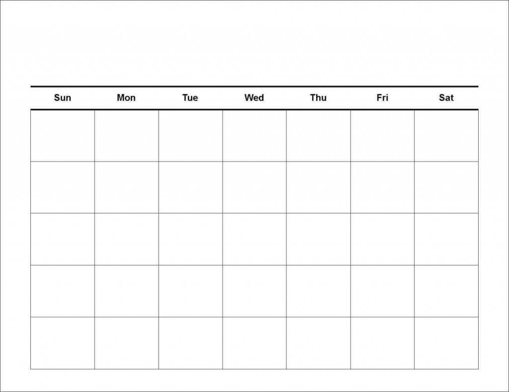 7 Day Calendar Printable Calendar Template 2020