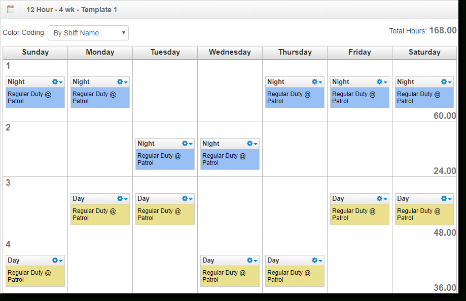 7 Different 12 Hour Shift Schedule Examples To Cover Round