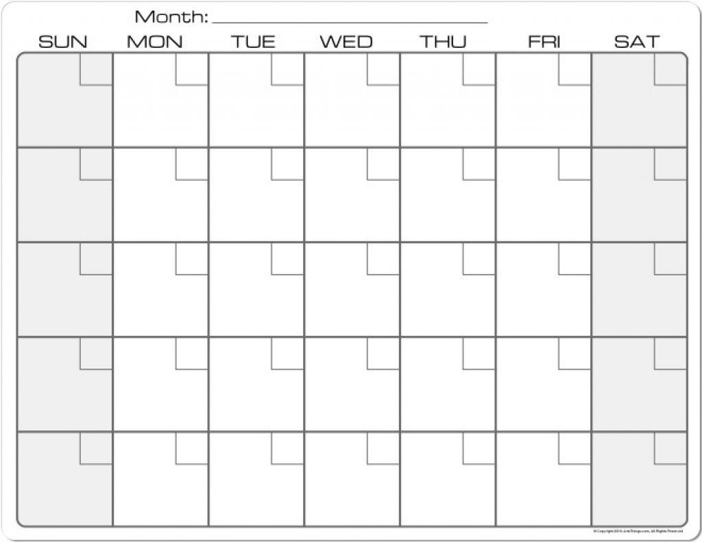 8 5 X 11 Blank Calendars To Print Calendar Template 2020