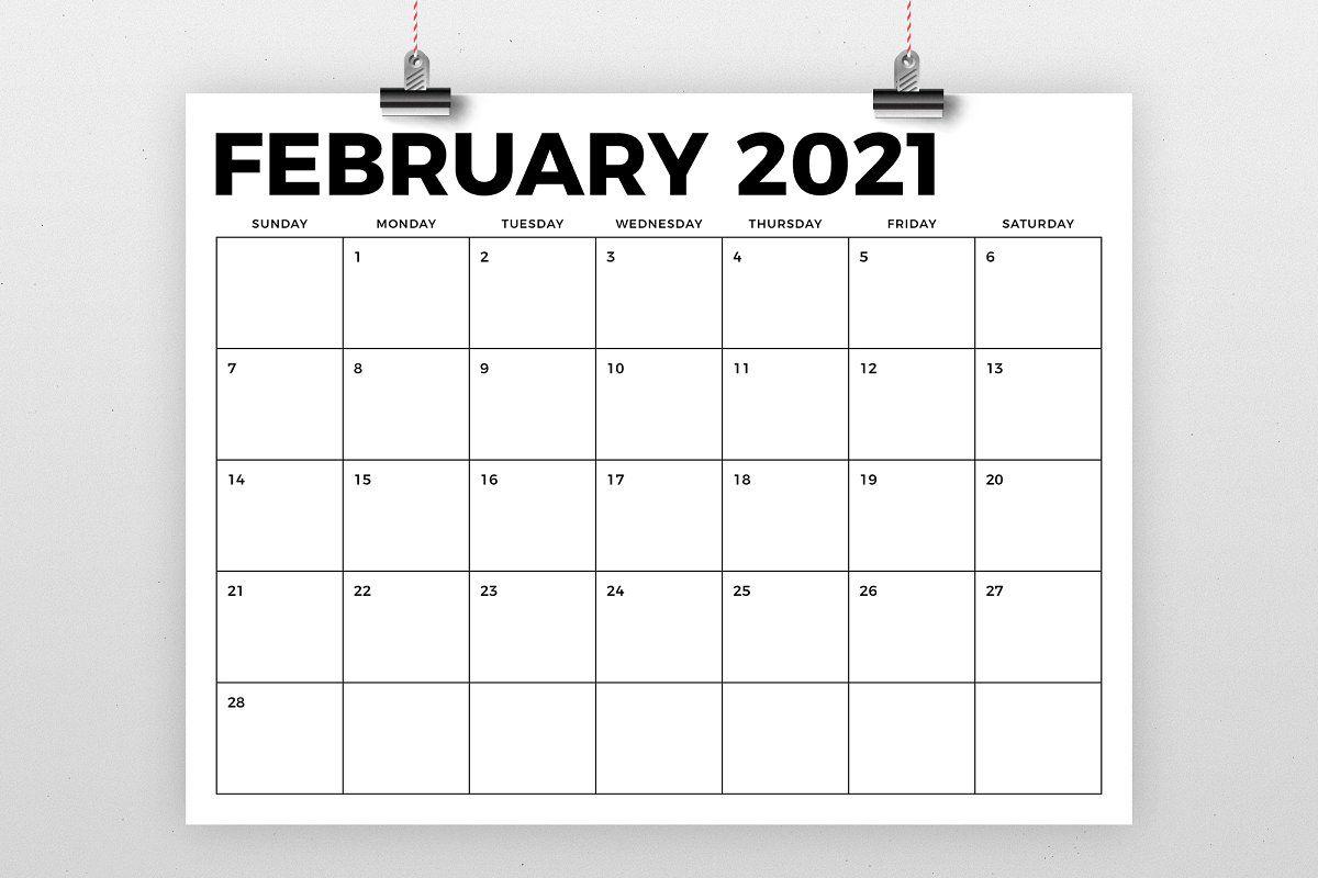 8 5 X 11 Inch Bold 2021 Calendar In 2020 Calendar 3