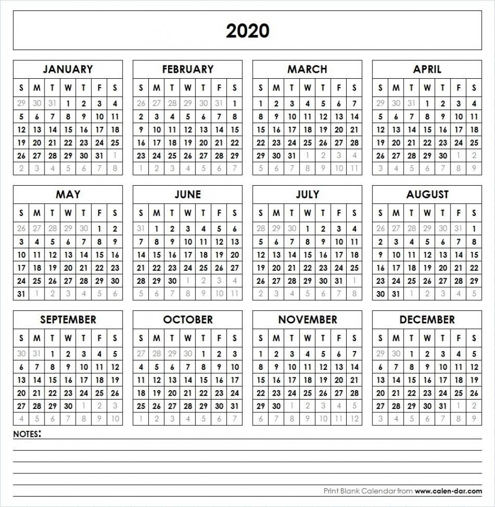 Admin Page 36 Calendar Template 2020