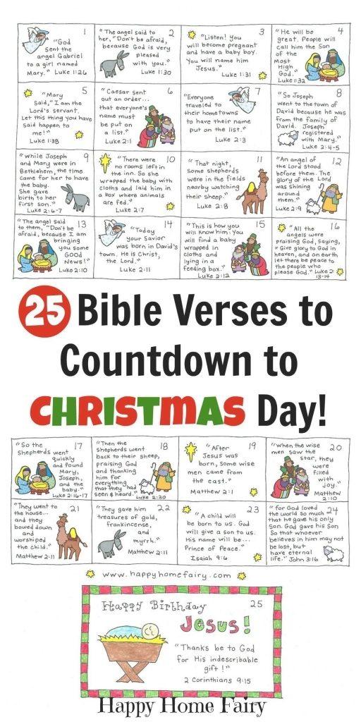 Advent Calendar Bible Verses Calendar Image 2020