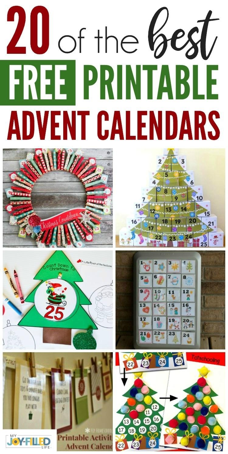 Advent Calendar Countdown Printable Free Calendar