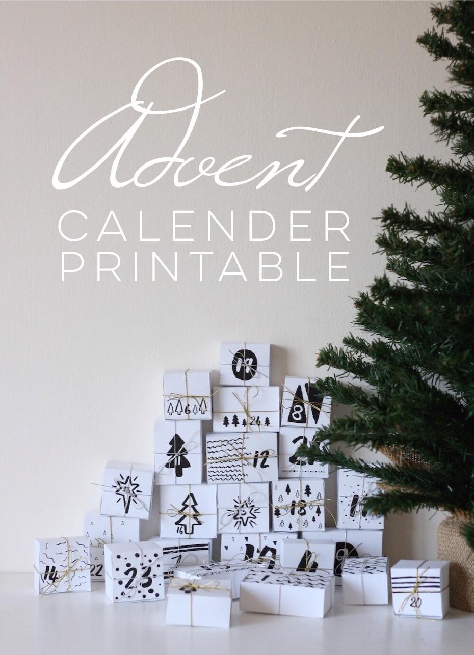 Advent Calendar Diy Printable Free Download Pure