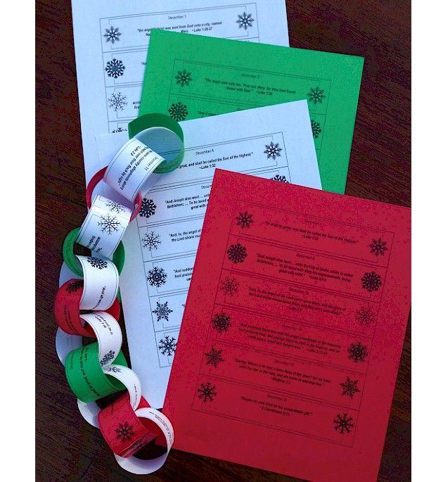 Advent Calendar Paper Chain Christian Christmas Advent
