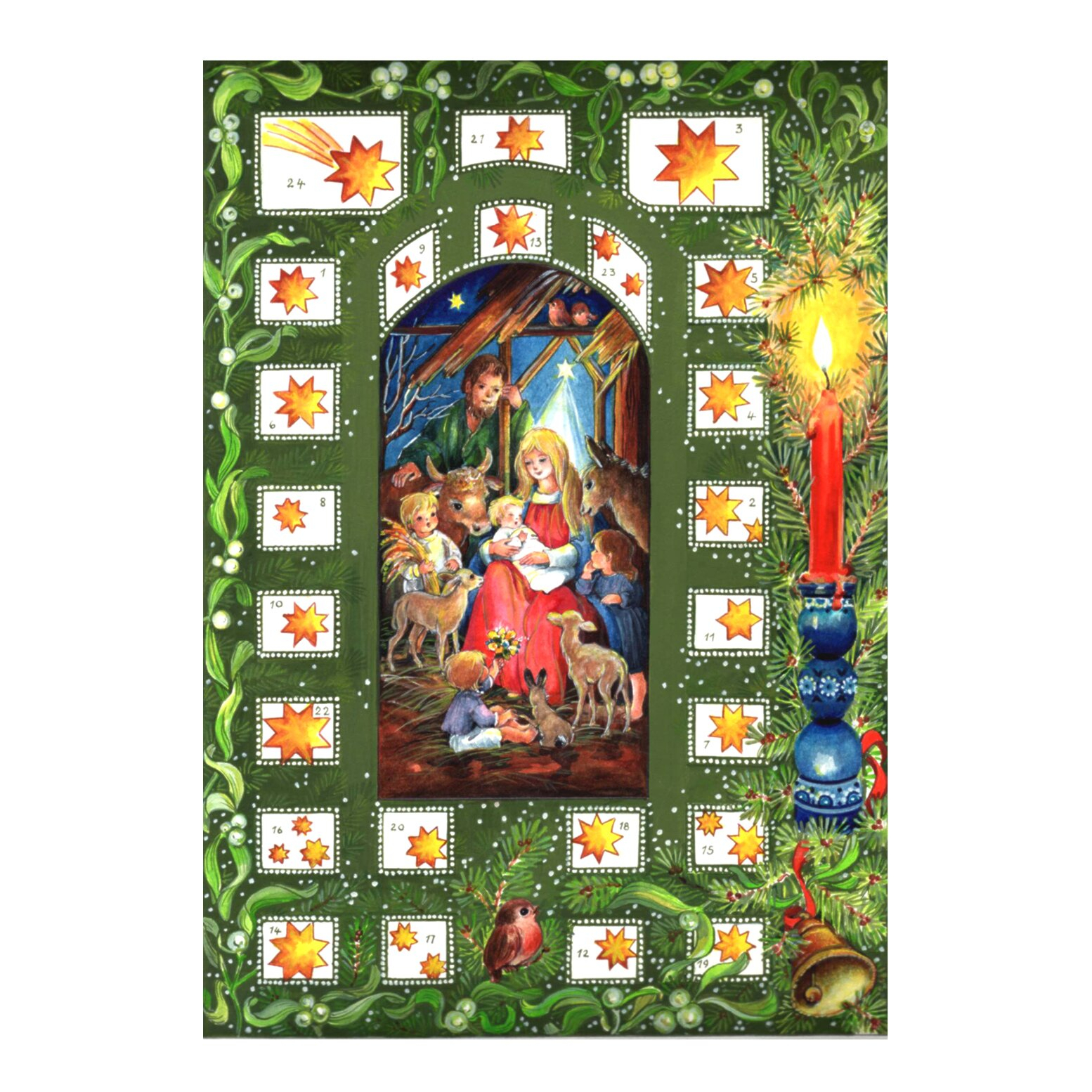 Alexander Taron Small Religious Advent Calendar With Bible