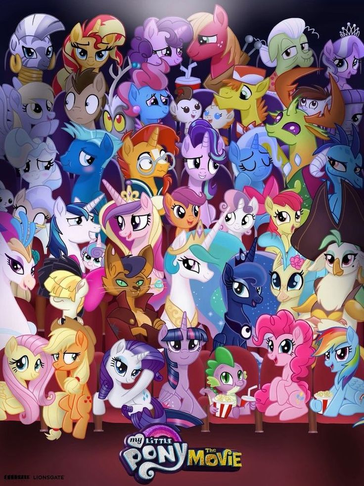 All The Characters Are Happy For The Movie My Little