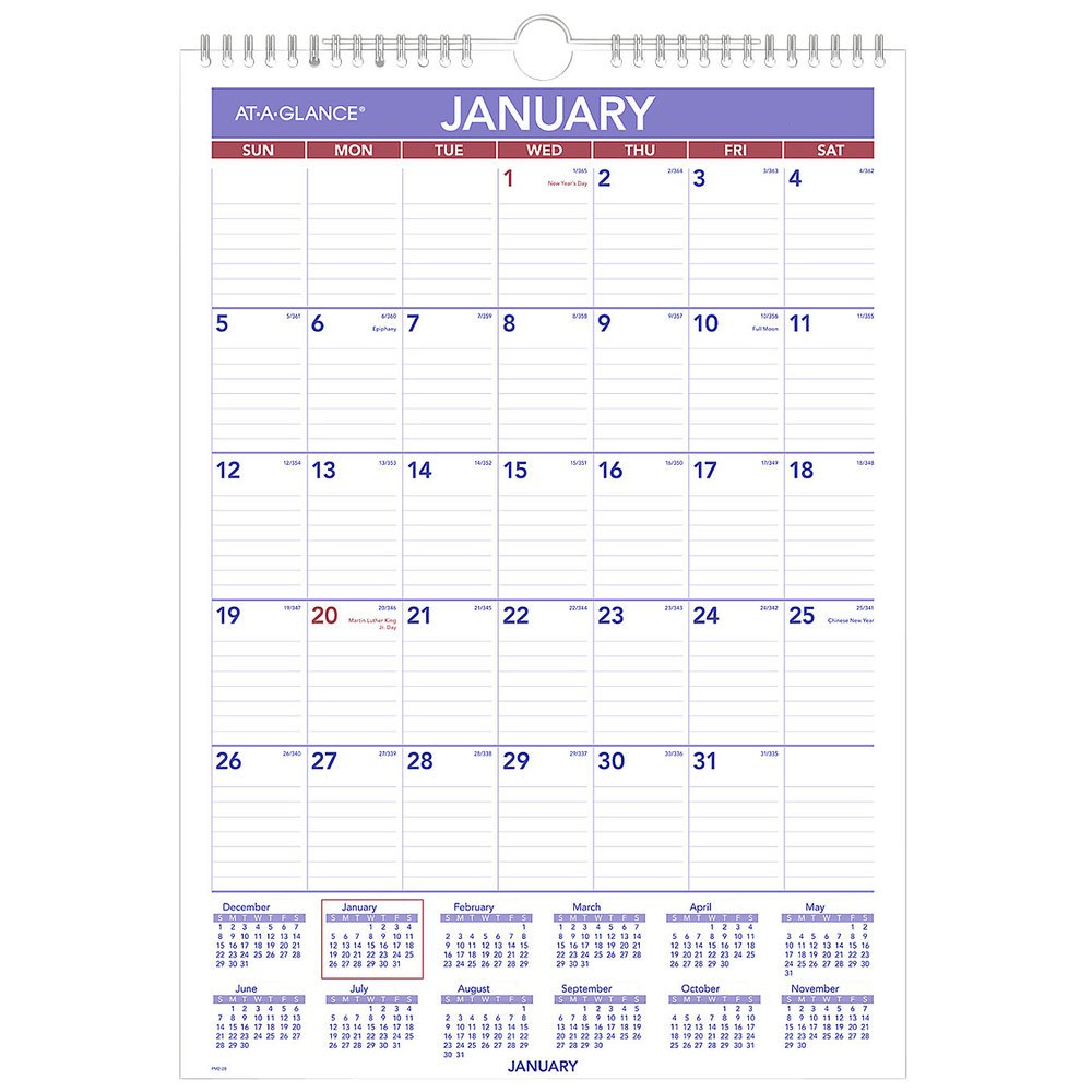 At A Glance Pm228 12 X 17 Monthly January 2021 1