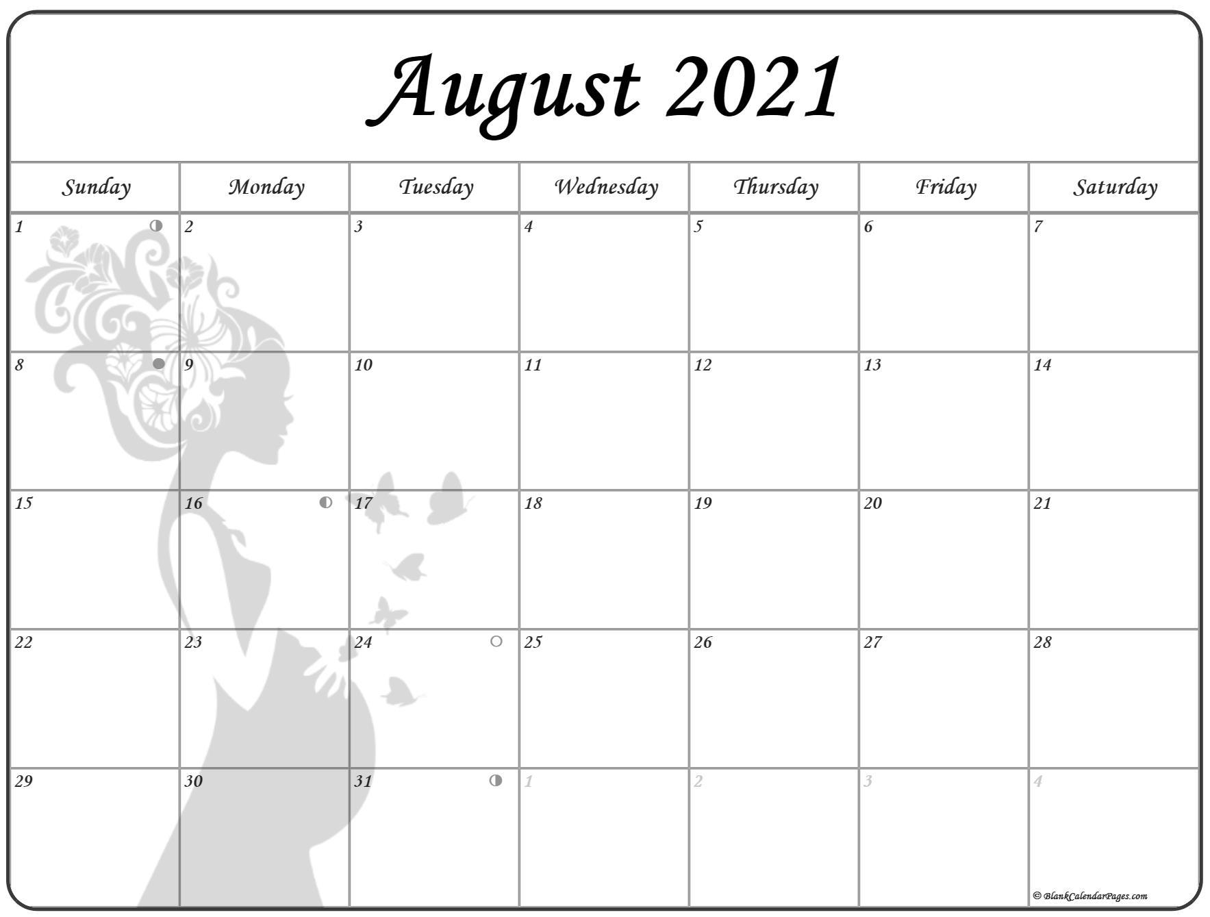 August 2021 Pregnancy Calendar Fertility Calendar