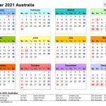 australia calendar 2021 free printable pdf templates