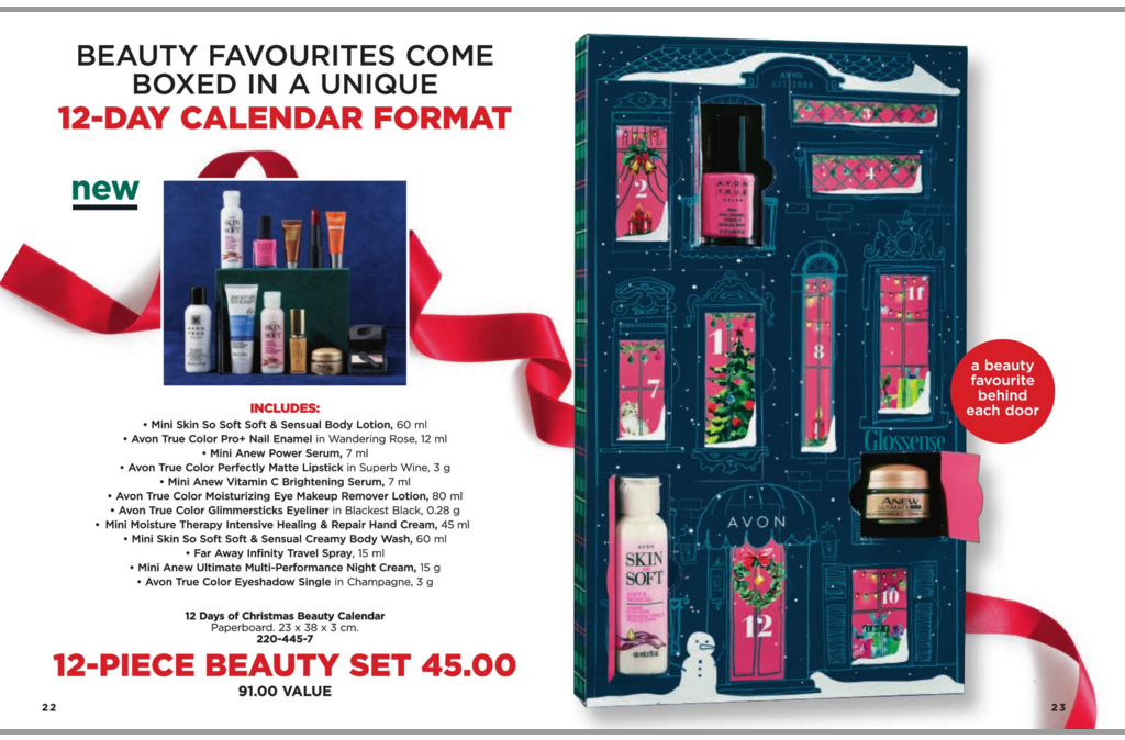 Avon Canada 12 Days Of Christmas Beauty 2018 Canadian 1