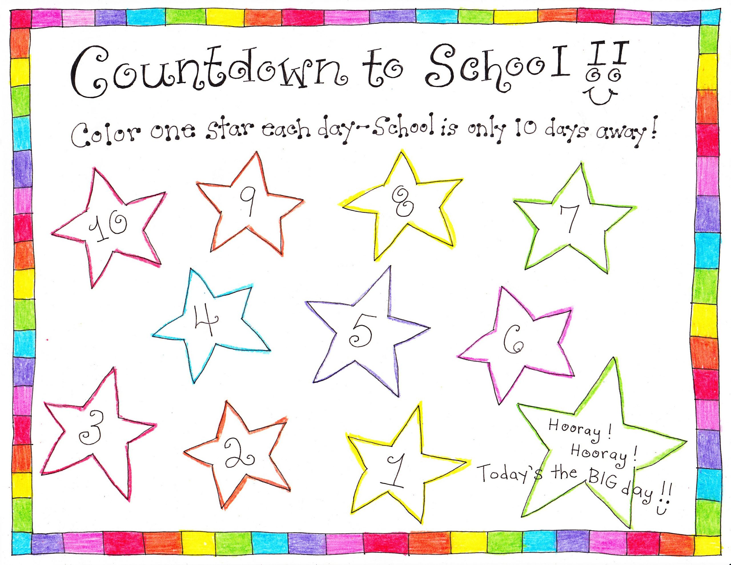 Back To School Countdown Free Printable Happy Home Fairy