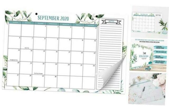 Beautiful 2020 2021 Greenery Desk Calendar 17 X 11 18