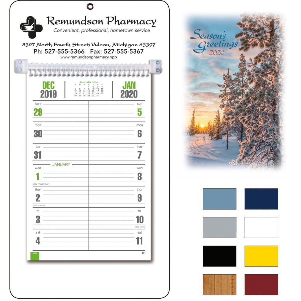 Bi Weekly Memo Calendars 2021 Colors Custom Wall