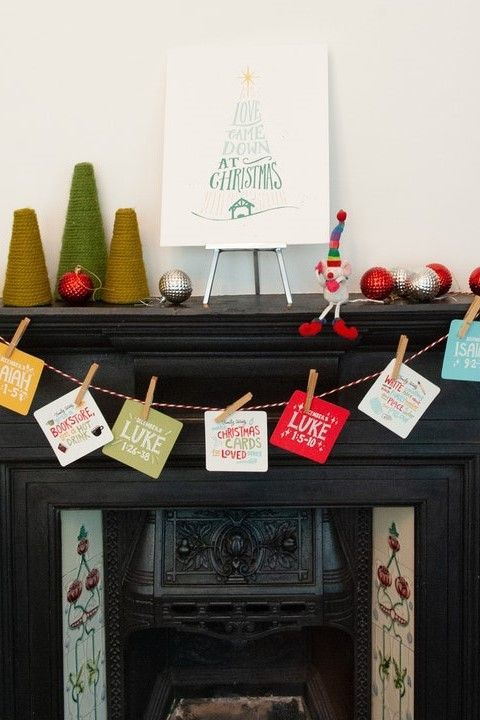 Bible Verse Family Activity Advent Calendar Bible