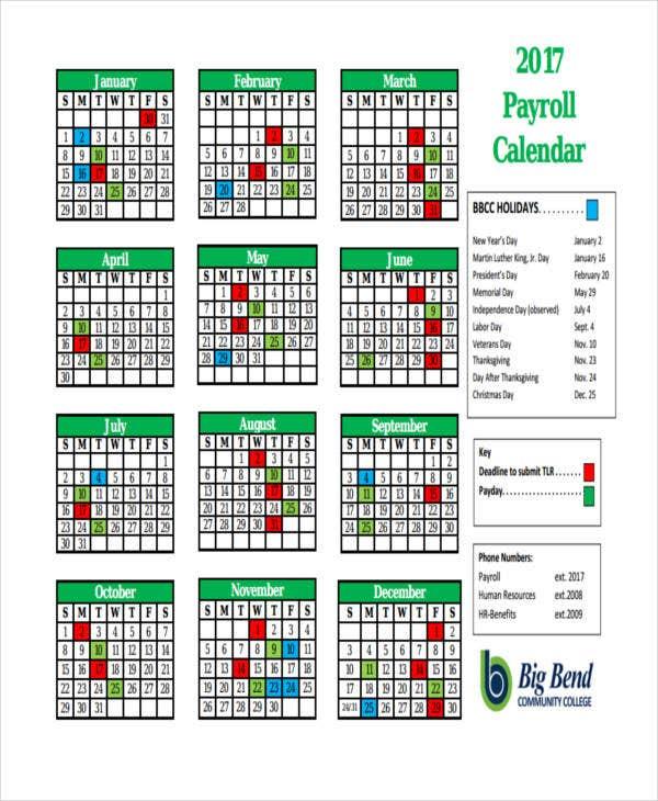Biweekly Payroll Calendar 2020 Printable Calendar 2019 2020