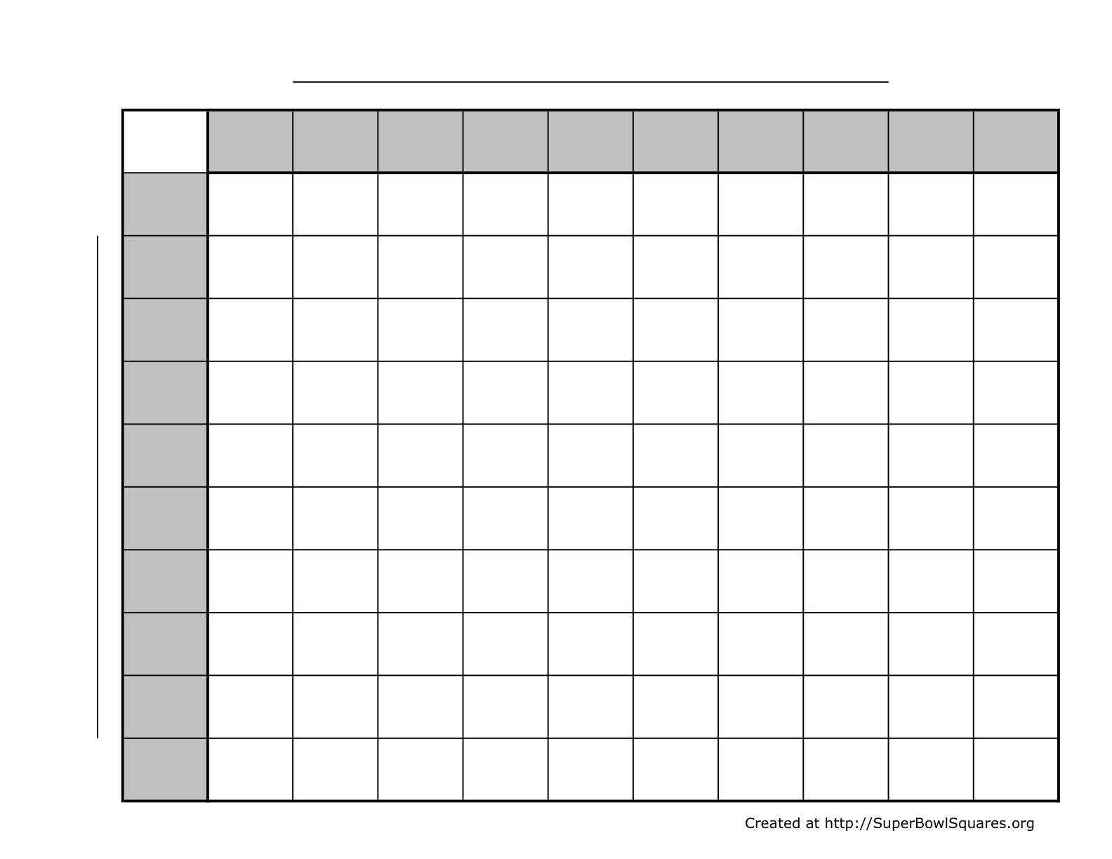 Blank 100 Square Grid Printable Room Surf