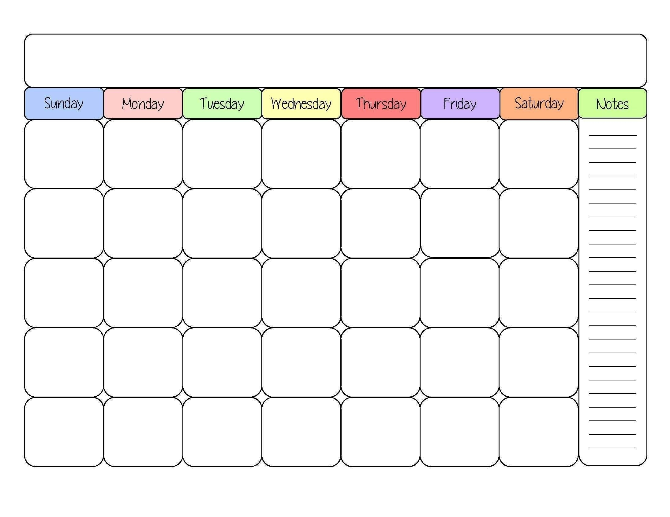 Blank 30 Day Calendar Template Calendar Template