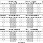 Blank Calendar June 2020 To February 2021 Monthly