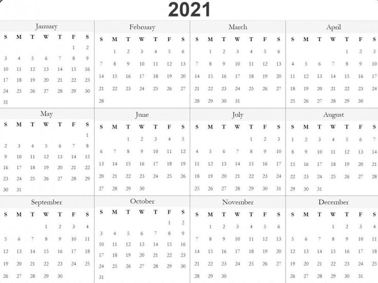 Blank One Month Calendar Template Awesome Free 2021