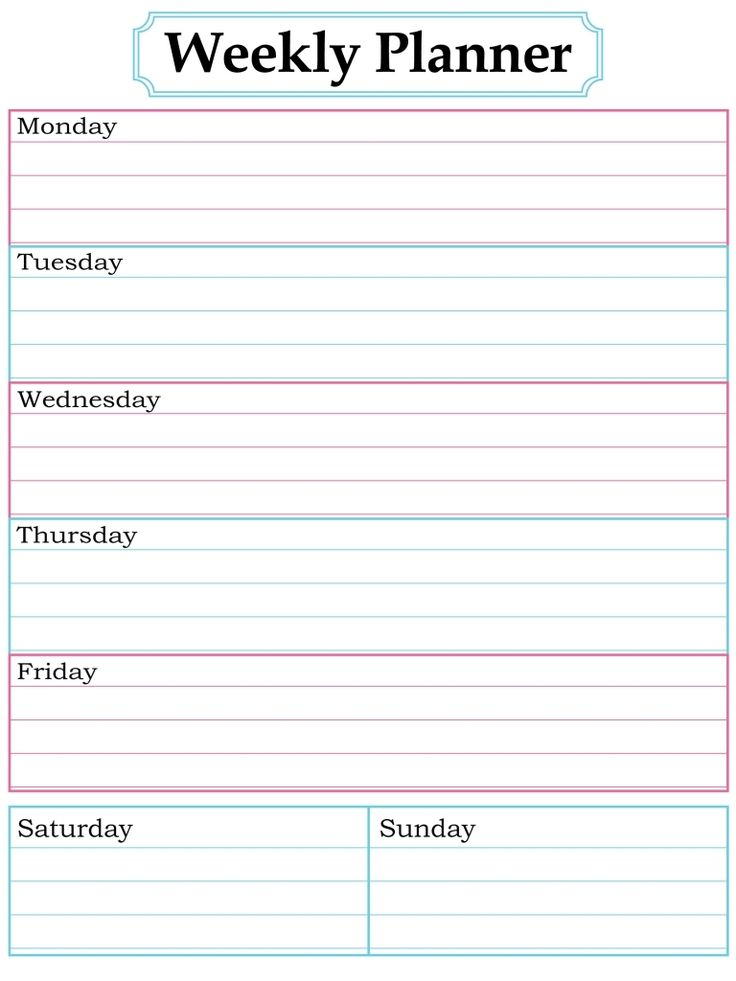 Blank Week Calendar Clipart 20 Free Cliparts Download