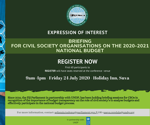 Briefing For Cso On The 2020 2021 National Budget